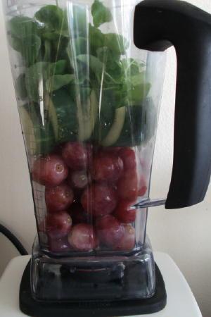 Grapes, Cucumber, Watercress