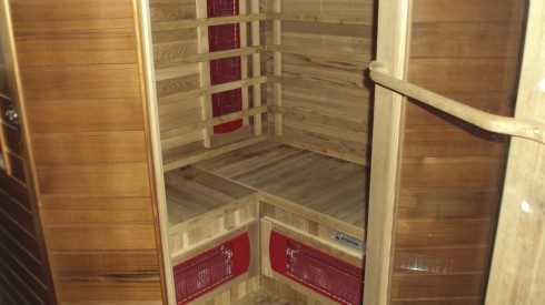 I often lie down in the infrared sauna and pop in a relaxation cd...then I try not to try too hard at relaxing! One trick I learned is to close your eyes and then totally focus on relaxing your eyeballs. It helps the rest of the body relax too!