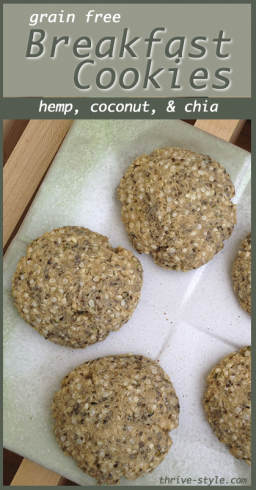 hemp breakfast cookies 1