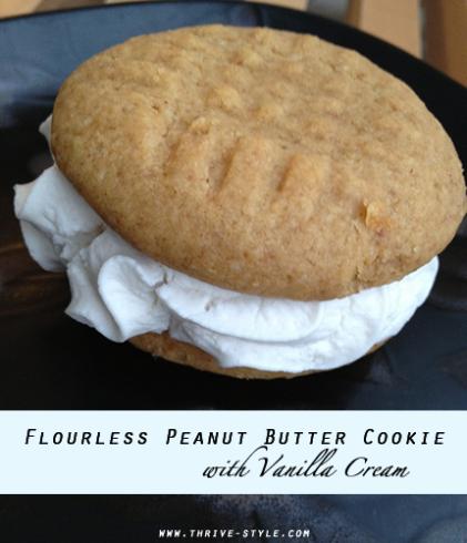 pb cookie with vanilla cream