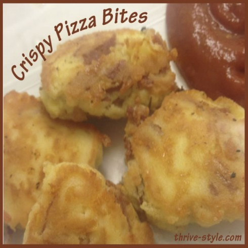 crispy pizza bites