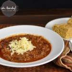 Beef and Bean Chili with Chicken Livers