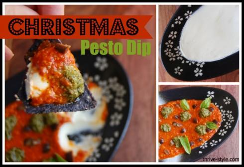 christmas pesto dip