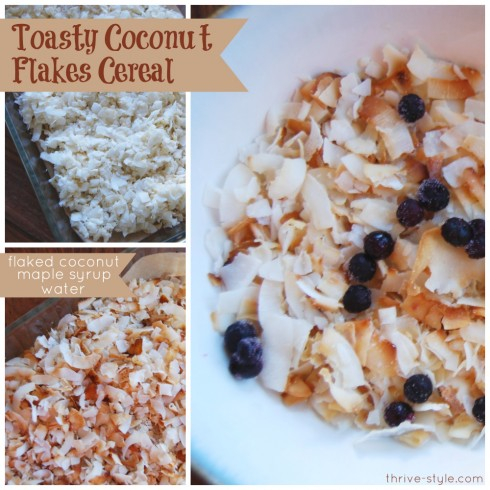 Toasty Coconut Flakes Cereal
