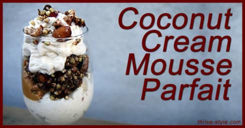 coconut cream mousse parfait