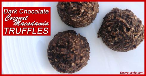 Chocolate Coconut Macadamia Truffles -